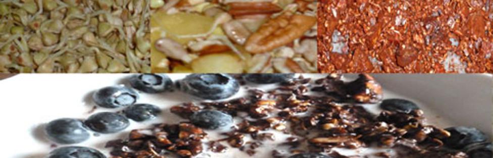 Crunchy chocolade boekweitgranola