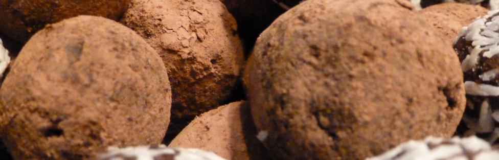 Energietruffels van (melk)chocola